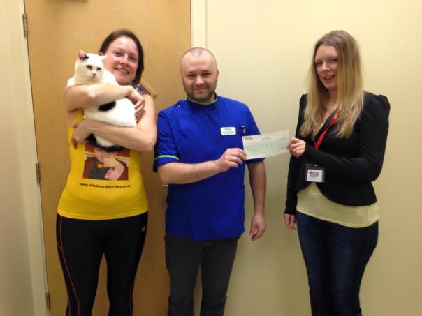Companion cats cheque presentation